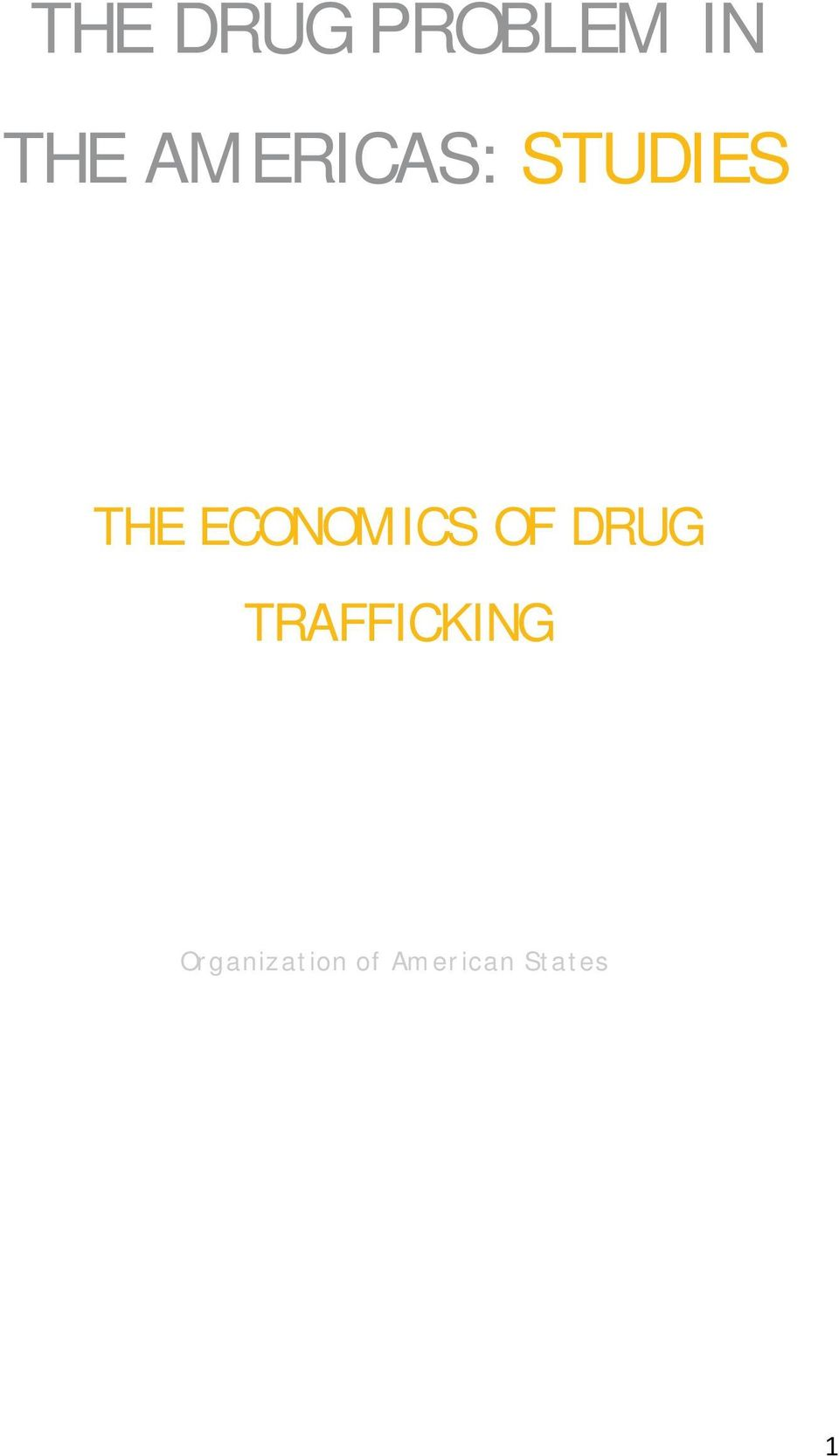 ECONOMICS OF DRUG