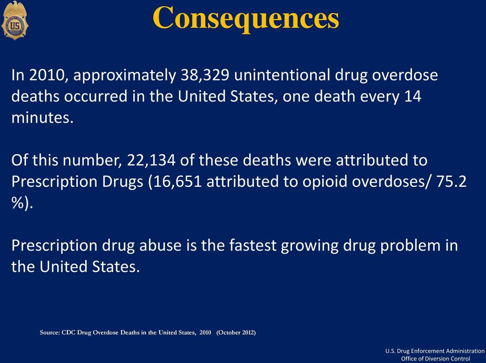 Of this number, 22,134 of these deaths were attributed to Prescription Drugs (16,651 attributed to