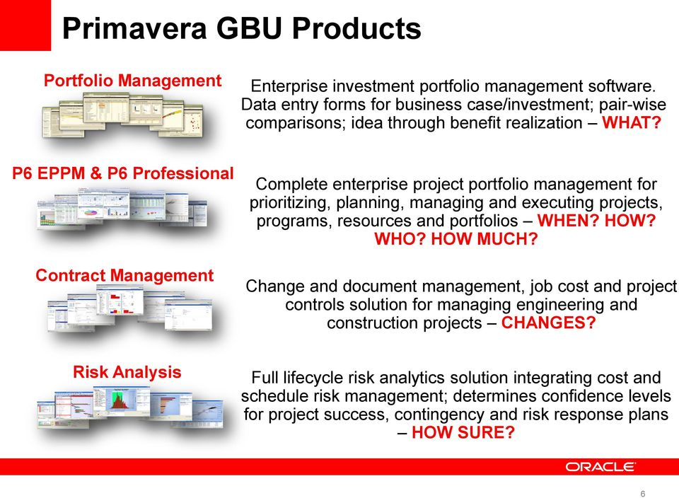 Oracle s Primavera Project Portfolio Management Technology Overview ...