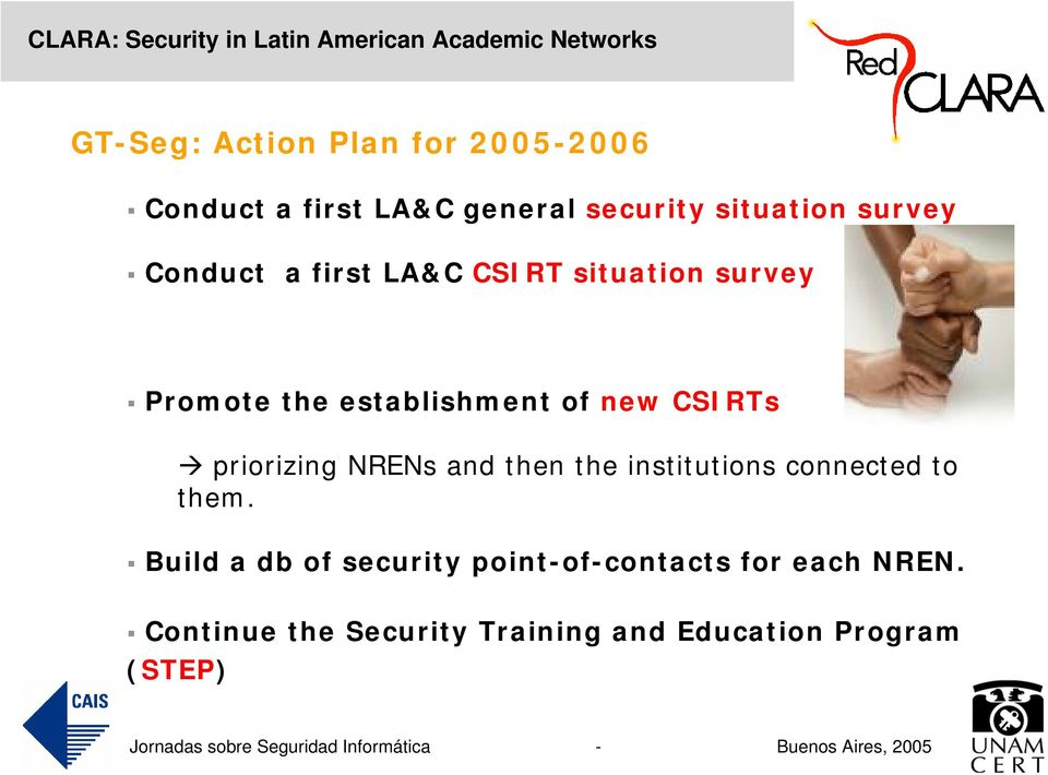 CSIRTs priorizing NRENs and then the institutions connected to them.