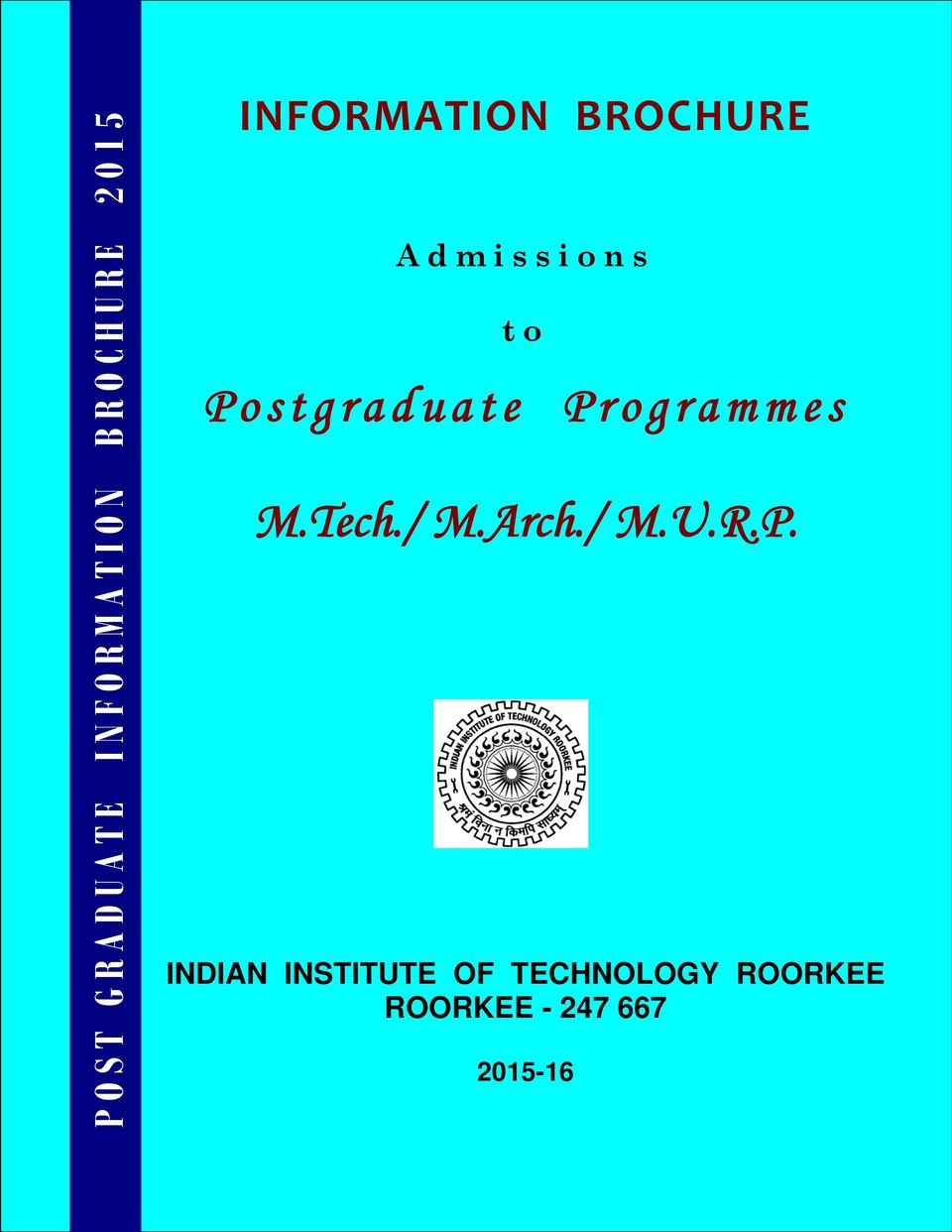 Programmes M.Tech./ M.Arch./ M.U.R.P. INDIAN