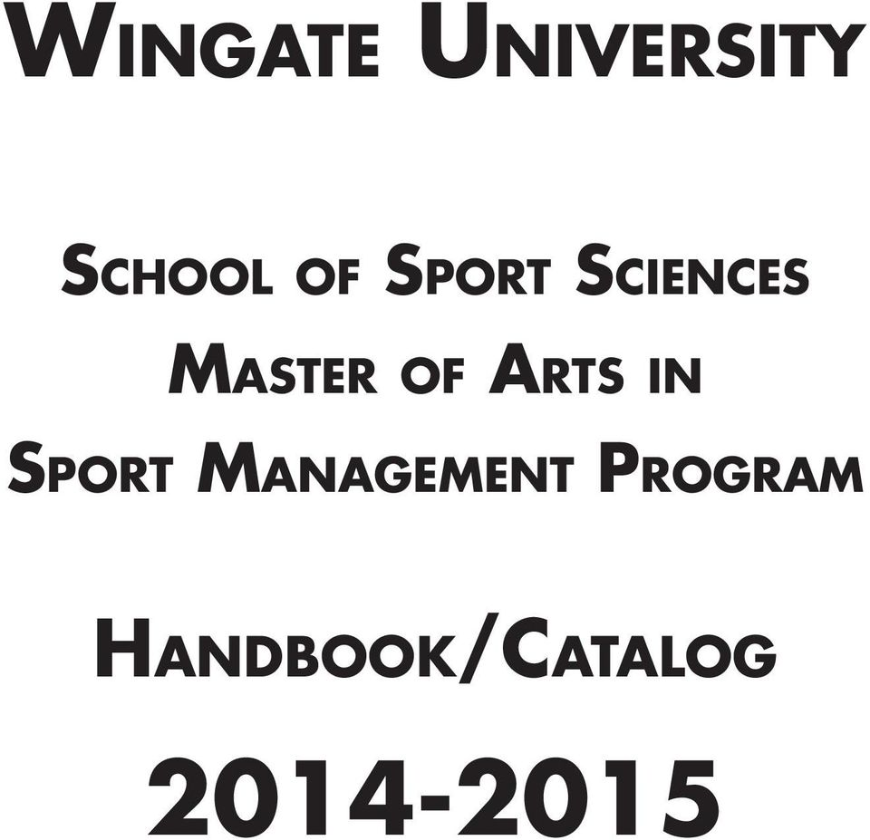Arts in Sport Management