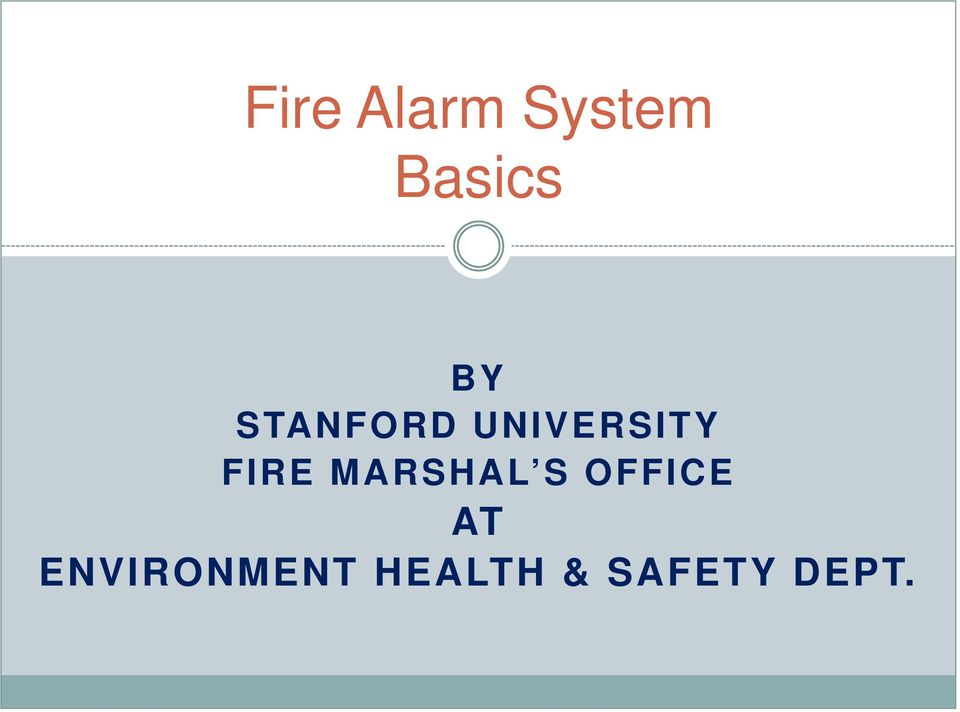 FIRE MARSHAL S OFFICE AT