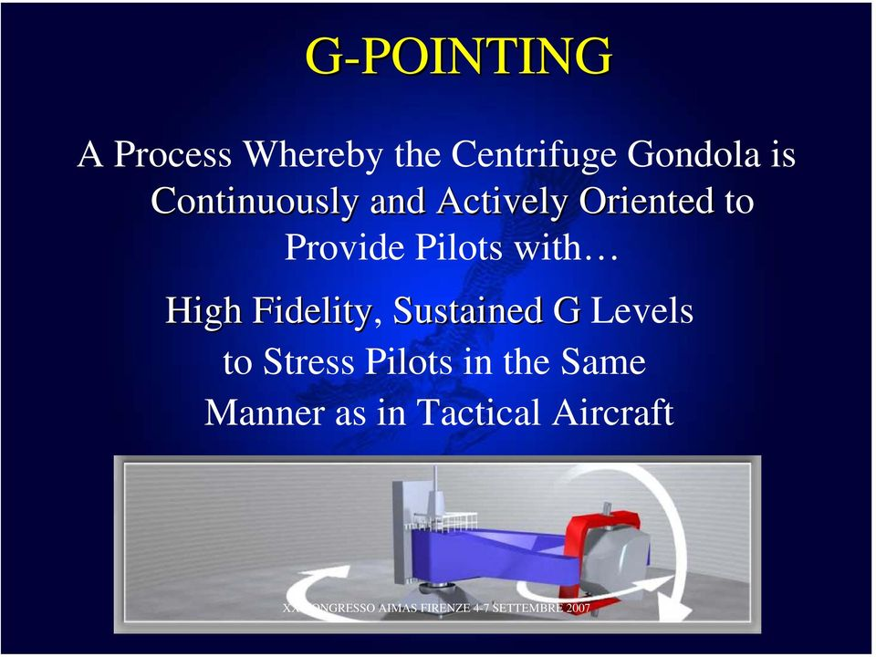 Pilots with High Fidelity, Sustained G Levels to