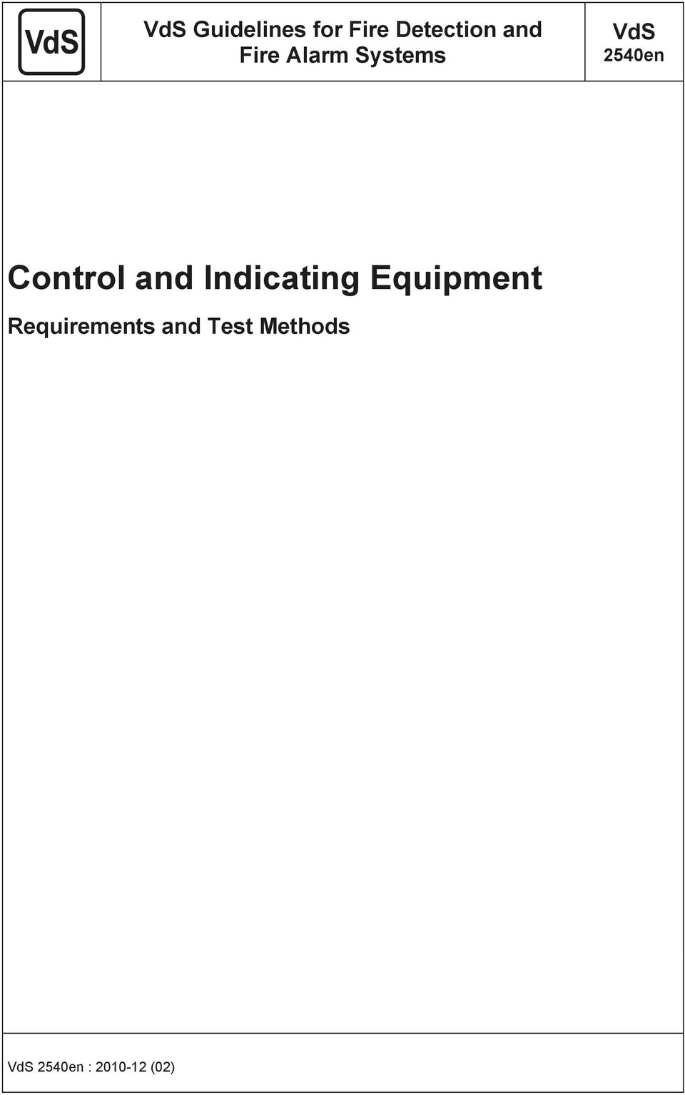 and Indicating Equipment Requirements