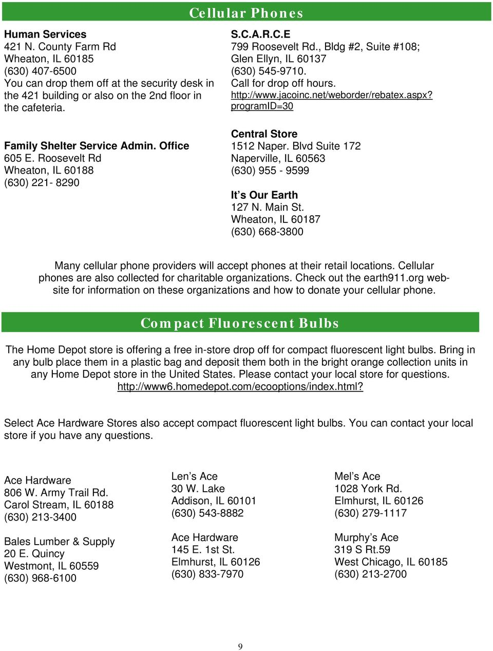 Dupage County Recycling Guide Pdf
