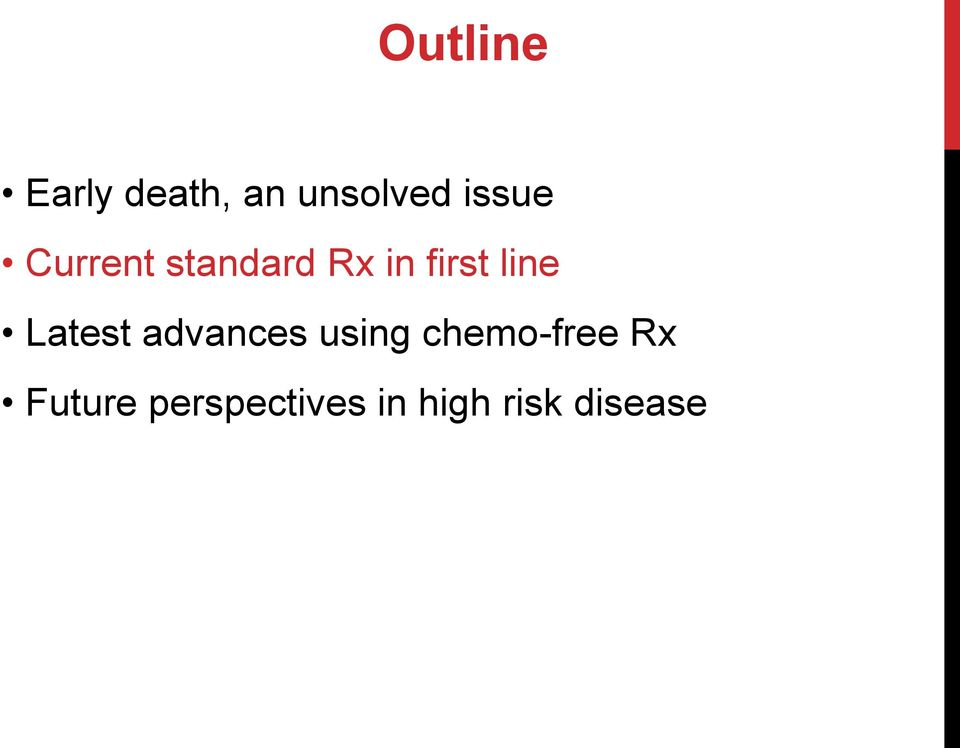 line Latest advances using chemo-free