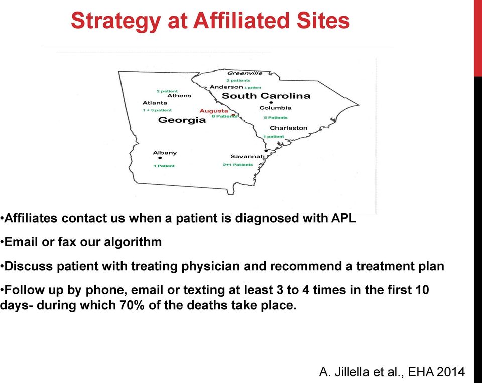 a treatment plan Follow up by phone, email or texting at least 3 to 4 times in the