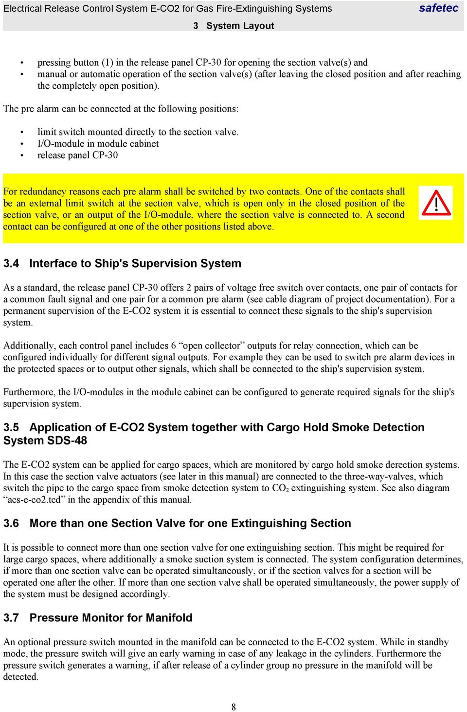 Operation Manual Electrical Release Control System E Co2 For Gas Additionally Series Circuit Diagram Further Fire Alarm I O Module In Cabinet Panel Cp 30 Redundancy Reasons