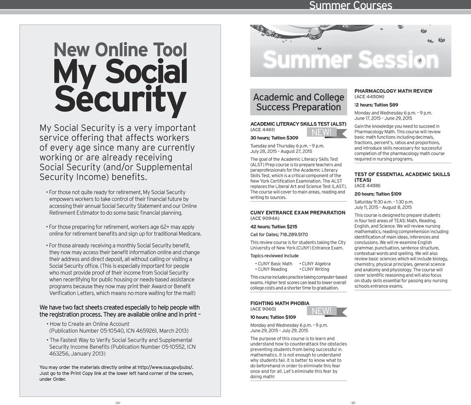 Bronx Community College. Spring Summer Obtain the skills you need to ...