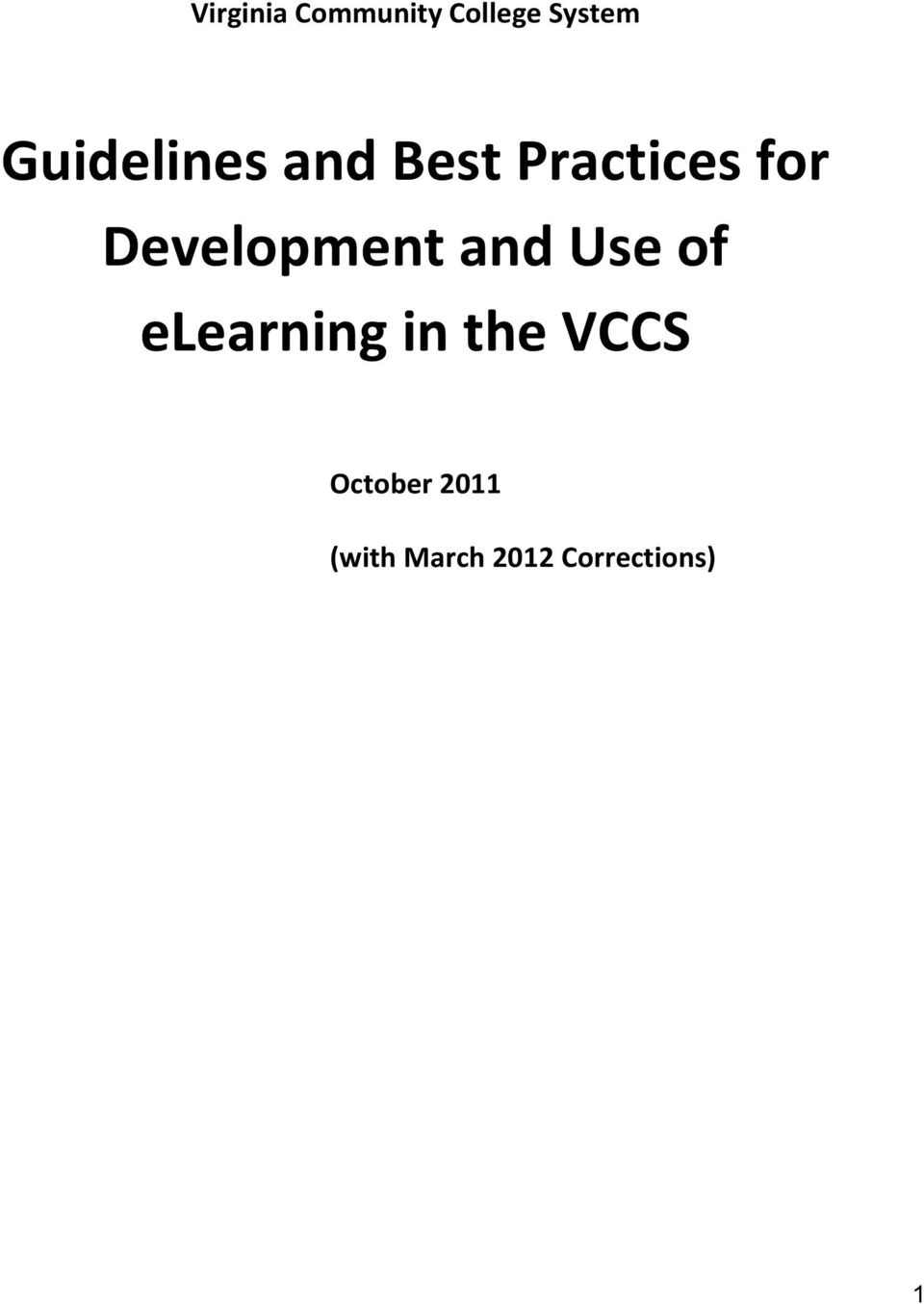 Development and Use of elearning in the