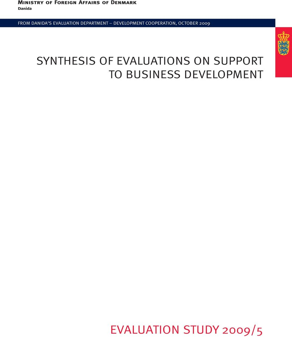 SYNTHESIS OF EVALUATIONS ON SUPPORT TO