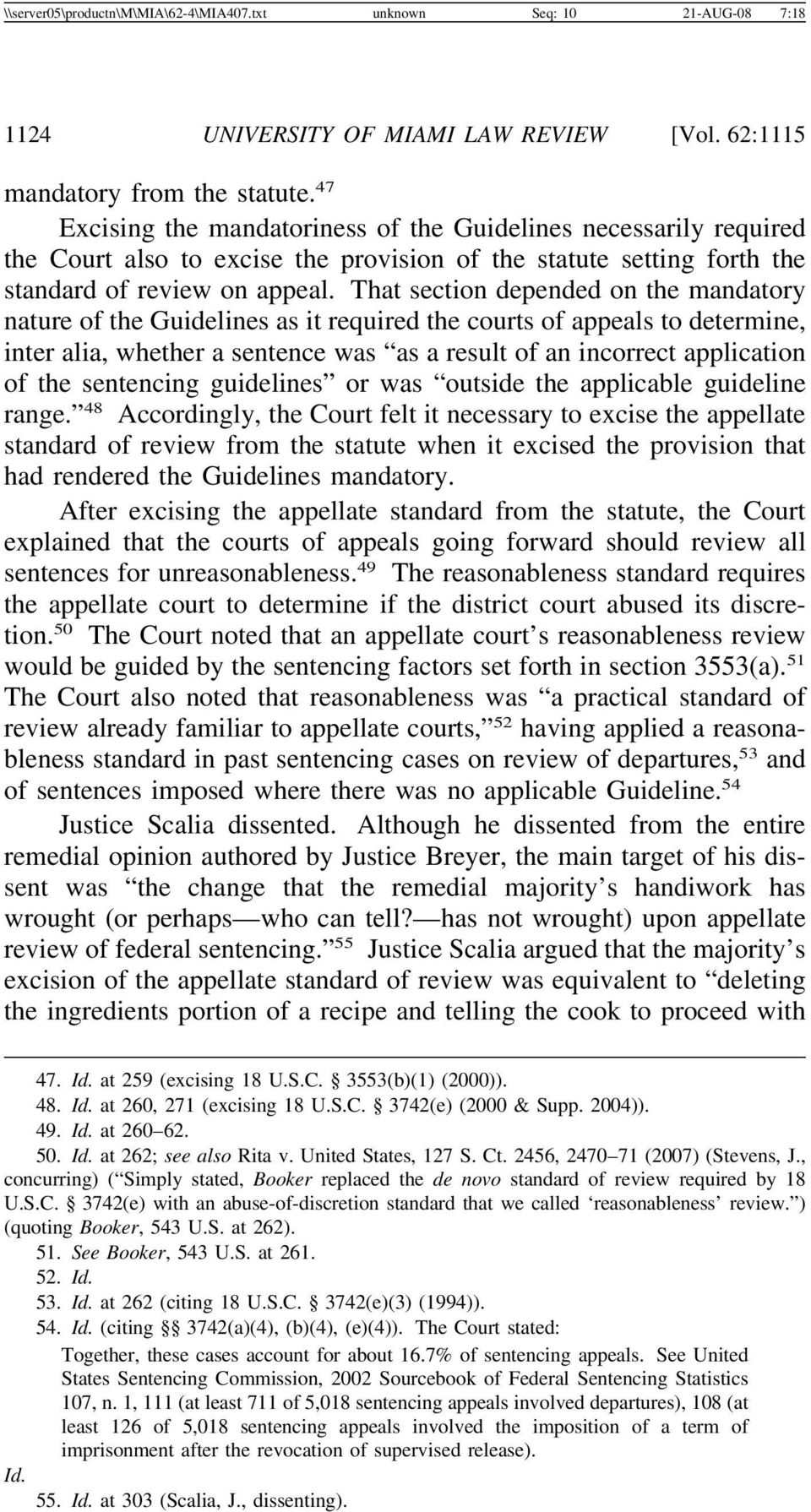 That section depended on the mandatory nature of the Guidelines as it required the courts of appeals to determine, inter alia, whether a sentence was as a result of an incorrect application of the