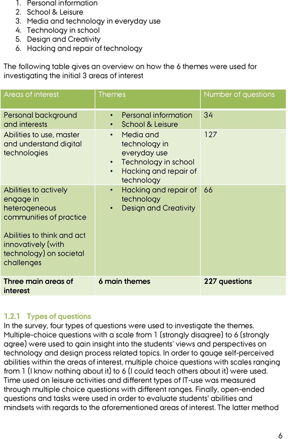 Personal background and interests Abilities to use, master and understand digital technologies Abilities to actively engage in heterogeneous communities of practice Abilities to think and act