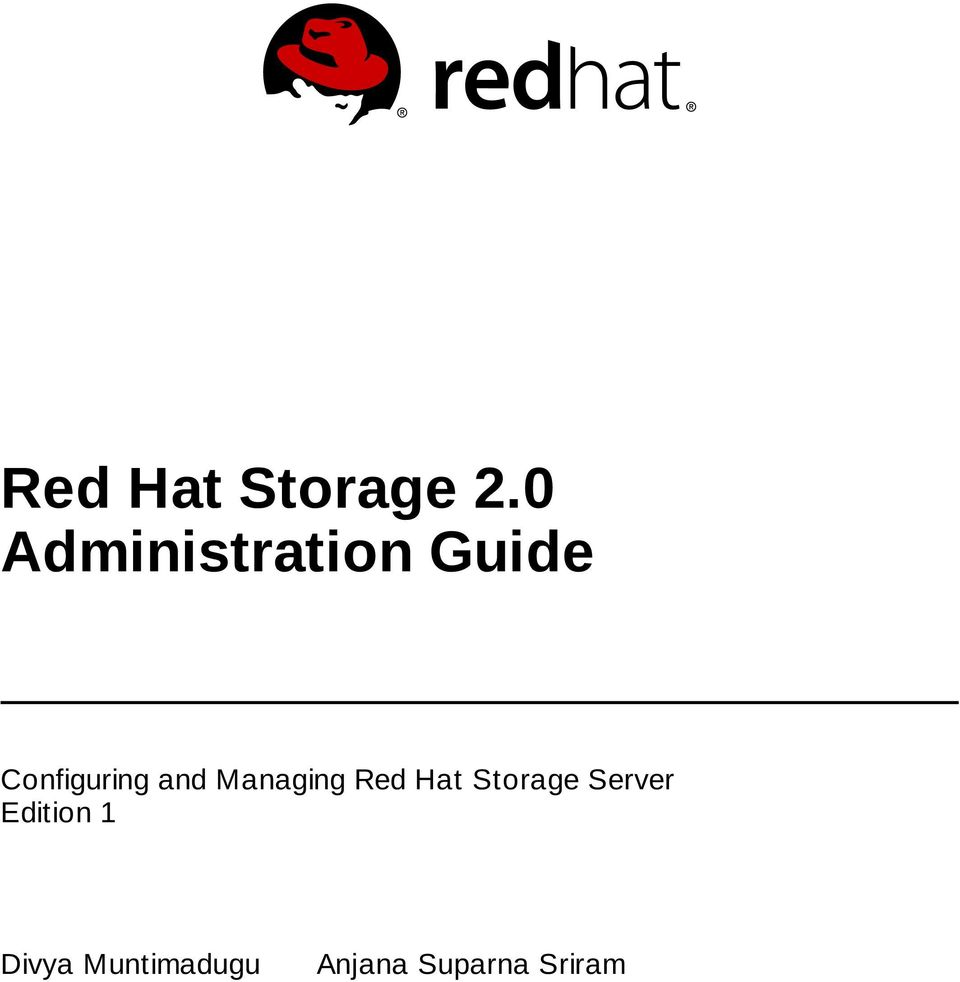 and Managing Red Hat Storage