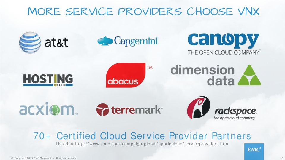 Partners Listed at http://www.emc.