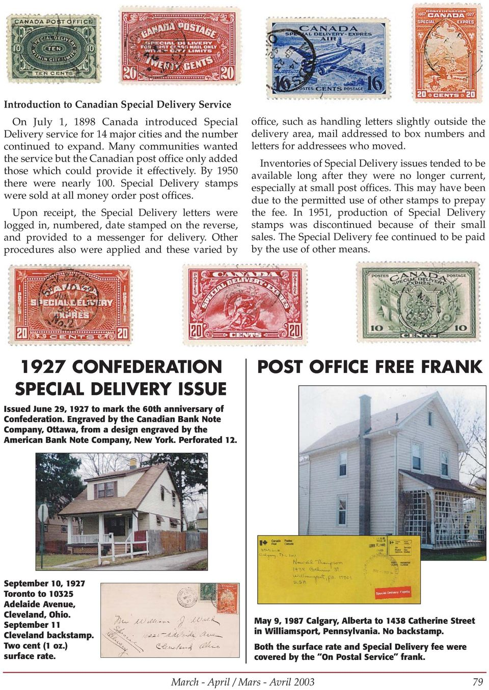Special Delivery stamps were sold at all money order post offices.