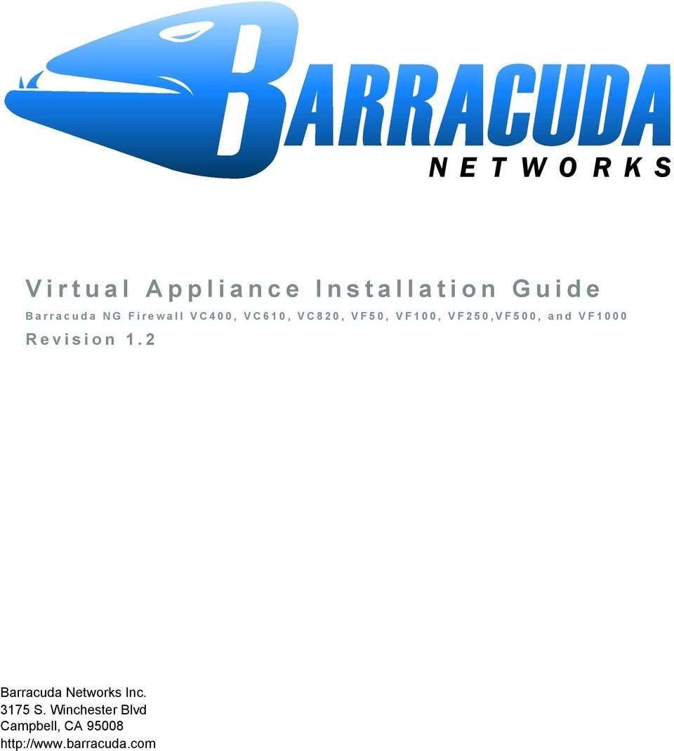 and VF1000 Revision 1.2 Barracuda Networks Inc. 3175 S.