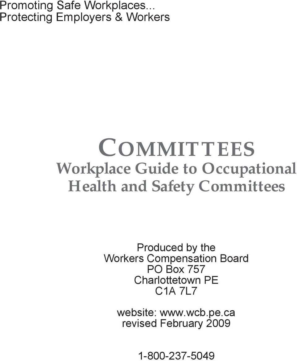 Occupational Health and Safety Committees Produced by the Workers