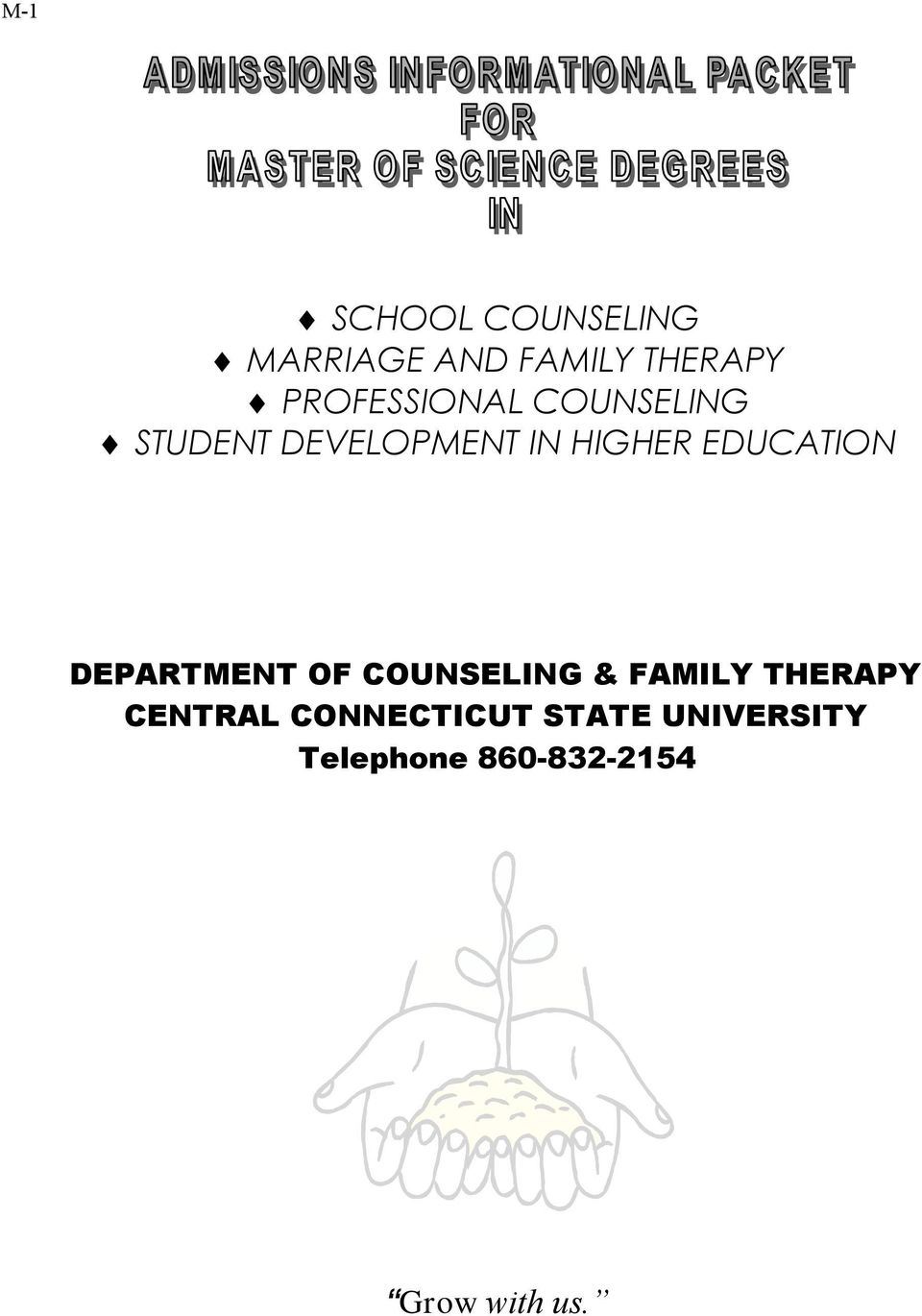 EDUCATION DEPARTMENT OF COUNSELING & FAMILY THERAPY