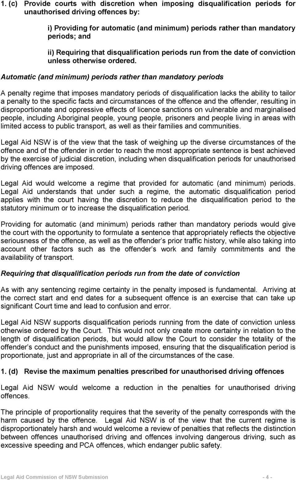 Automatic (and minimum) periods rather than mandatory periods A penalty regime that imposes mandatory periods of disqualification lacks the ability to tailor a penalty to the specific facts and