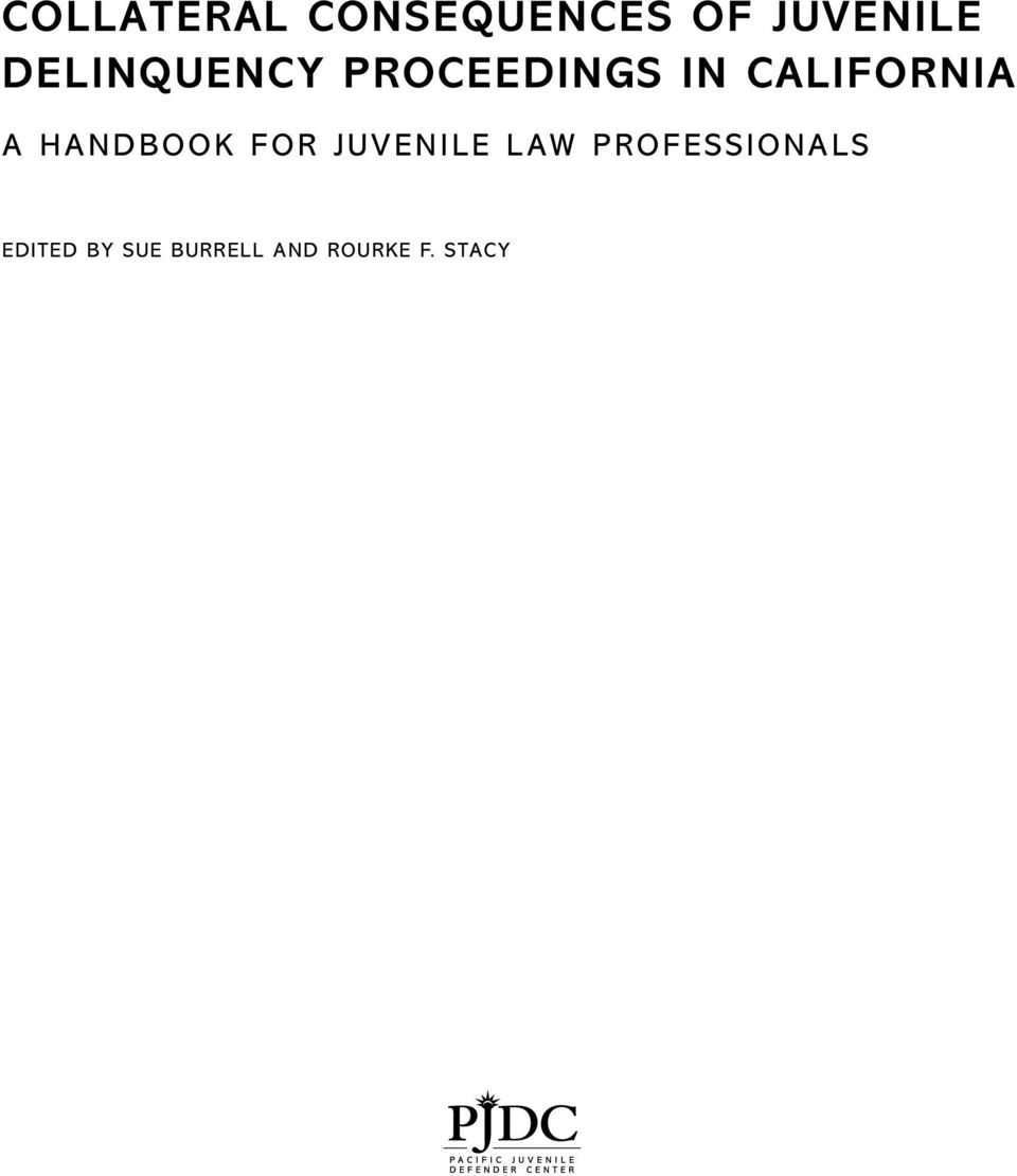 Handbook for Juvenile Law Professionals