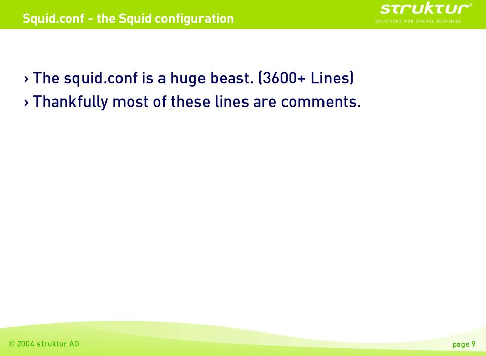 squid.conf is a huge beast.