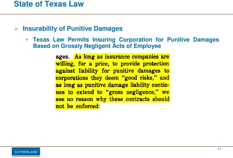 Insuring Corporation for Punitive
