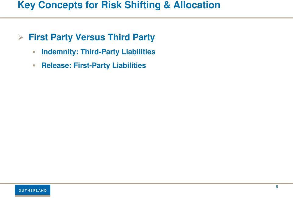Party Indemnity: Third-Party