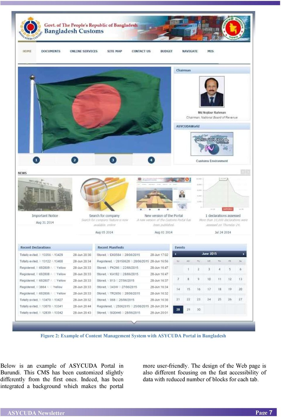 Indeed, has been integrated a background which makes the portal more user-friendly.