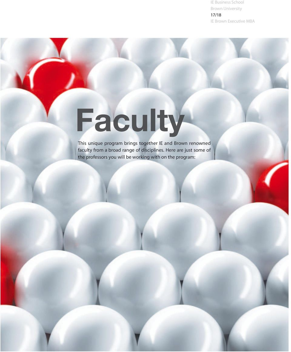 faculty from a broad range of disciplines.