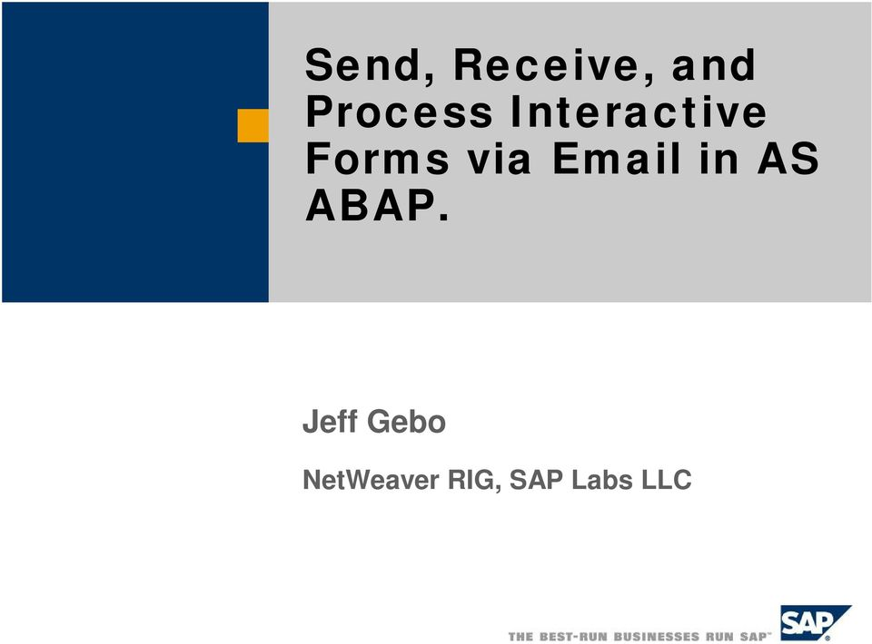 via Email in AS ABAP.