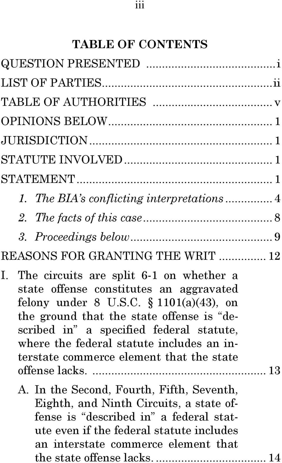 The circuits are split 6-1 on whether a state offense constitutes an aggravated felony under 8 U.S.C.