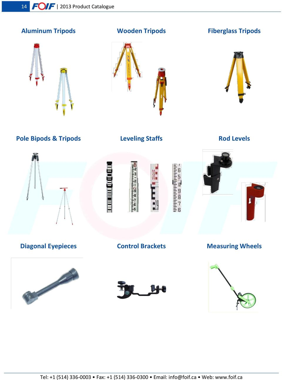 Bipods & Tripods Leveling Staffs Rod Levels