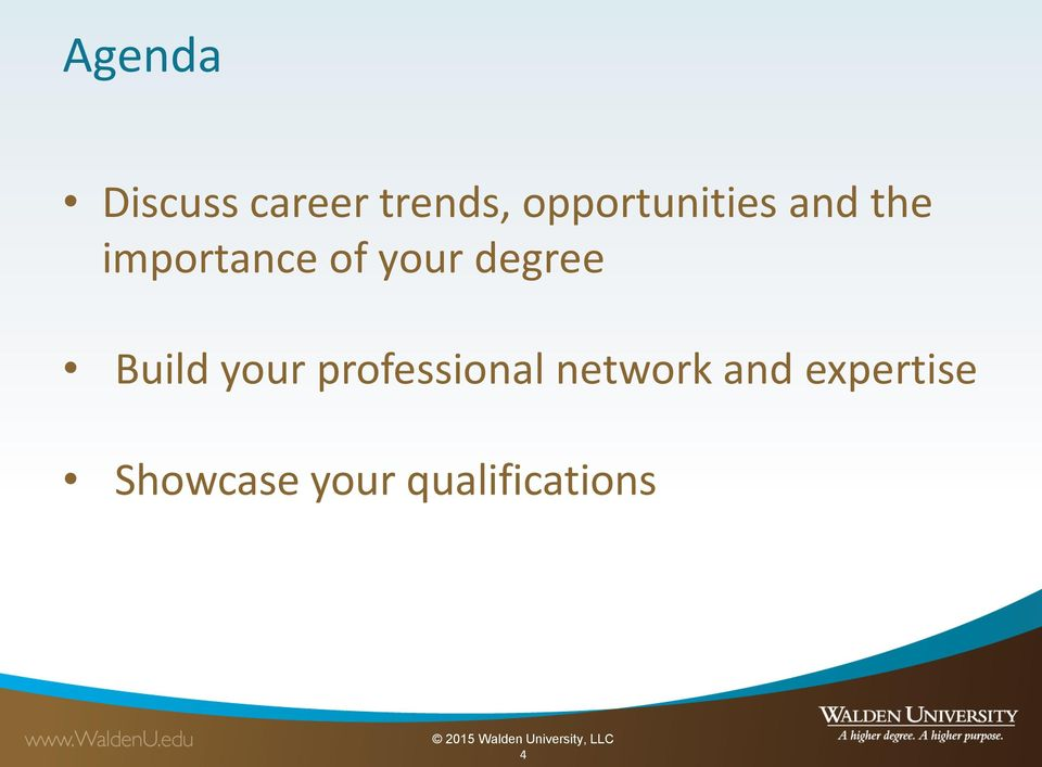your degree Build your professional