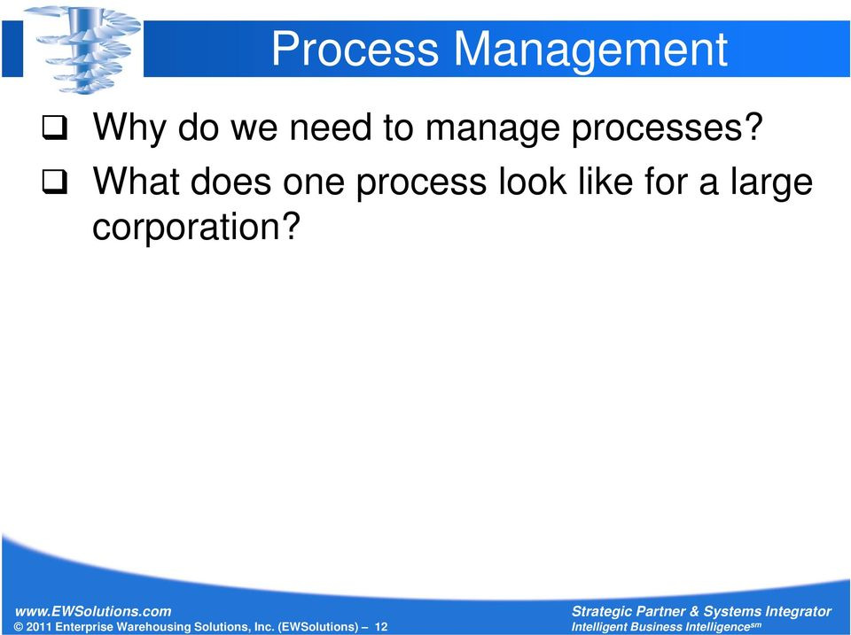 What does one process look like for a