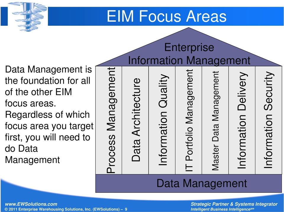 Enterprise Information Management Data Architecture Information Quality IT Portfolio Management Master