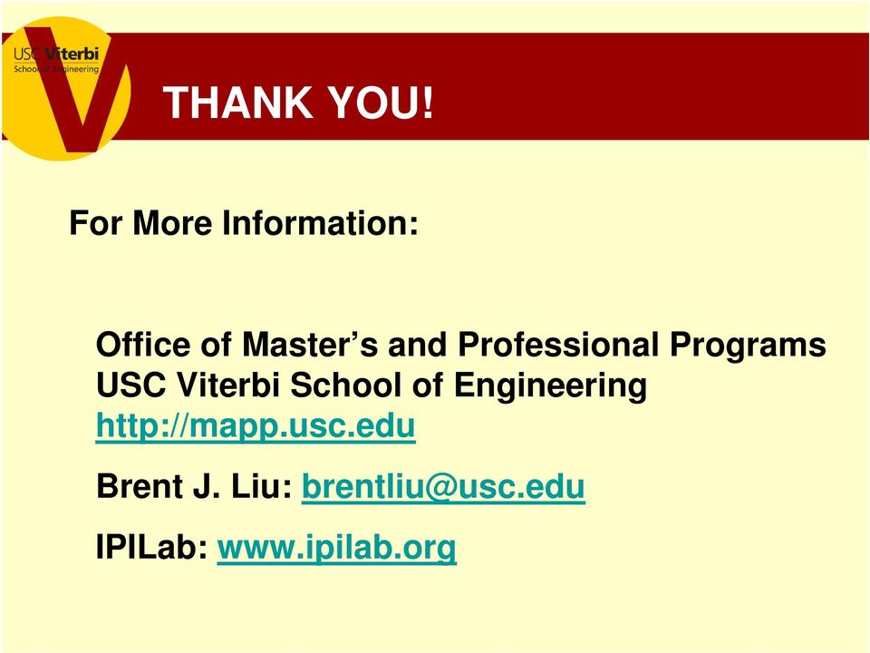 Professional Programs USC Viterbi School of