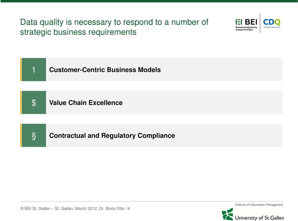 Models $ Value Chain Excellence Contractual and Regulatory