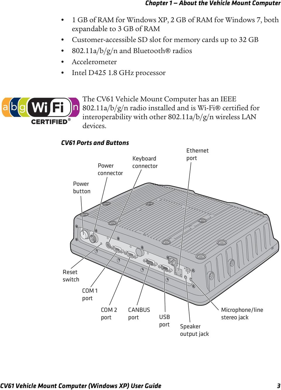 11a/b/g/n radio installed and is Wi-Fi certified for interoperability with other 802.11a/b/g/n wireless LAN devices.