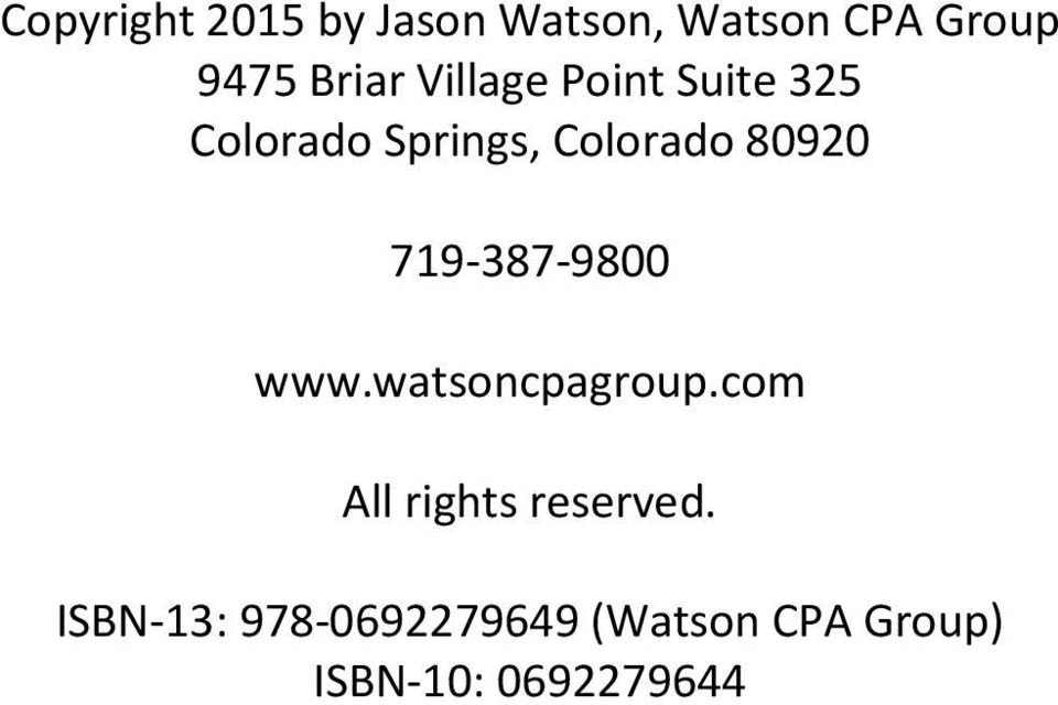 80920 719-387-9800 www.watsoncpagroup.