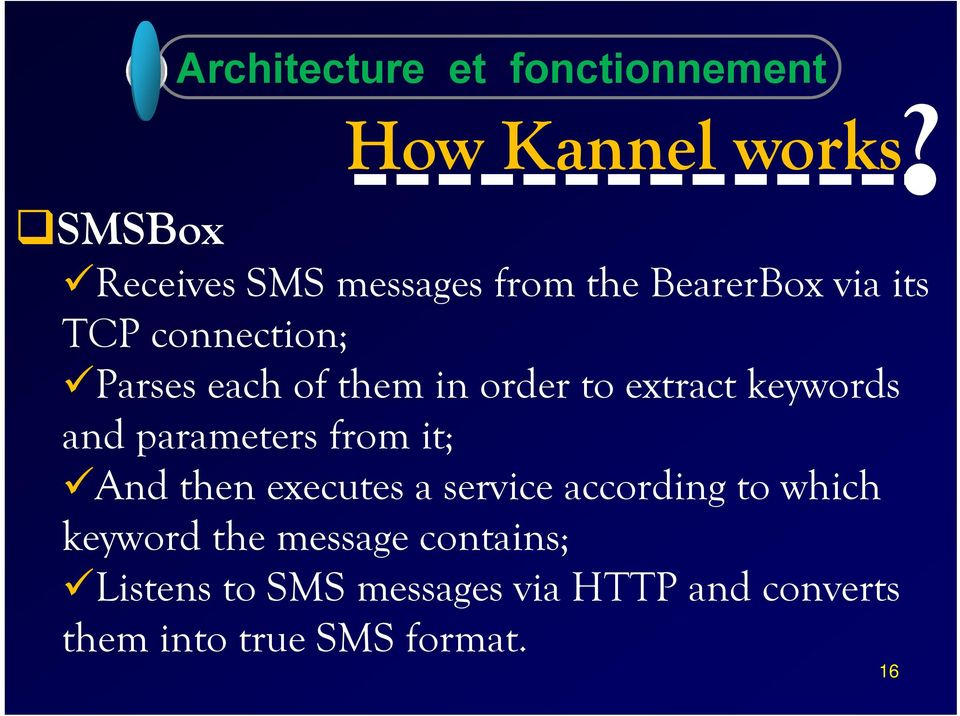 in order to extract keywords and parameters from it; And then executes a service