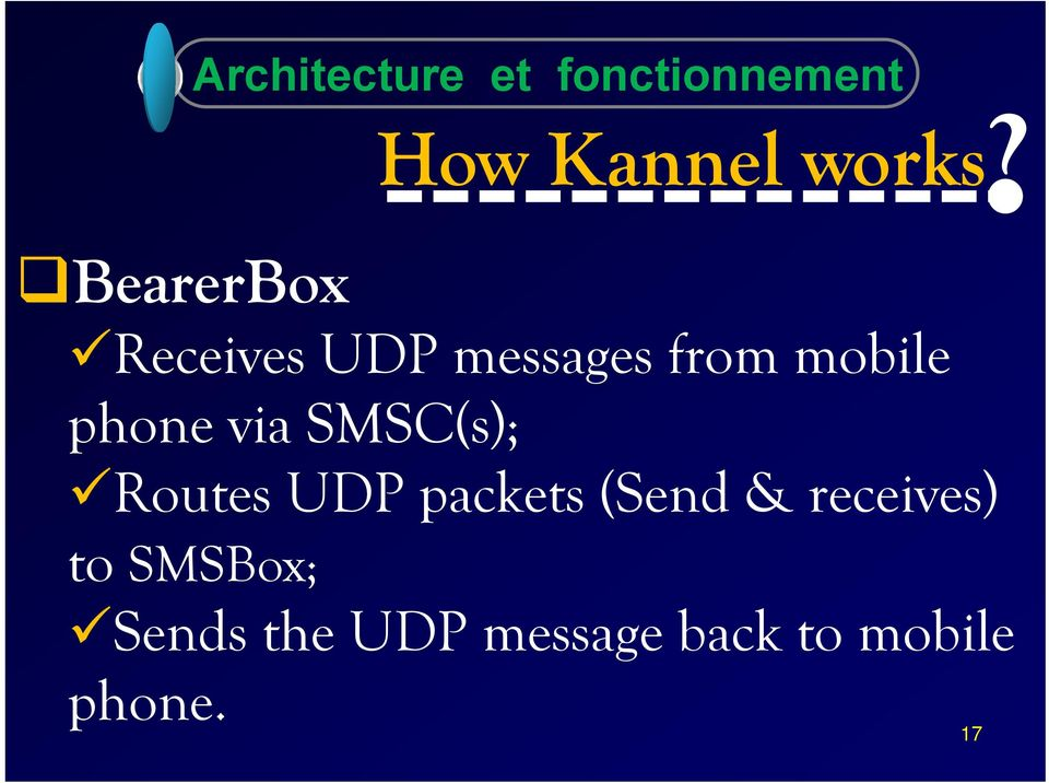 Receives UDP messages from mobile phone via