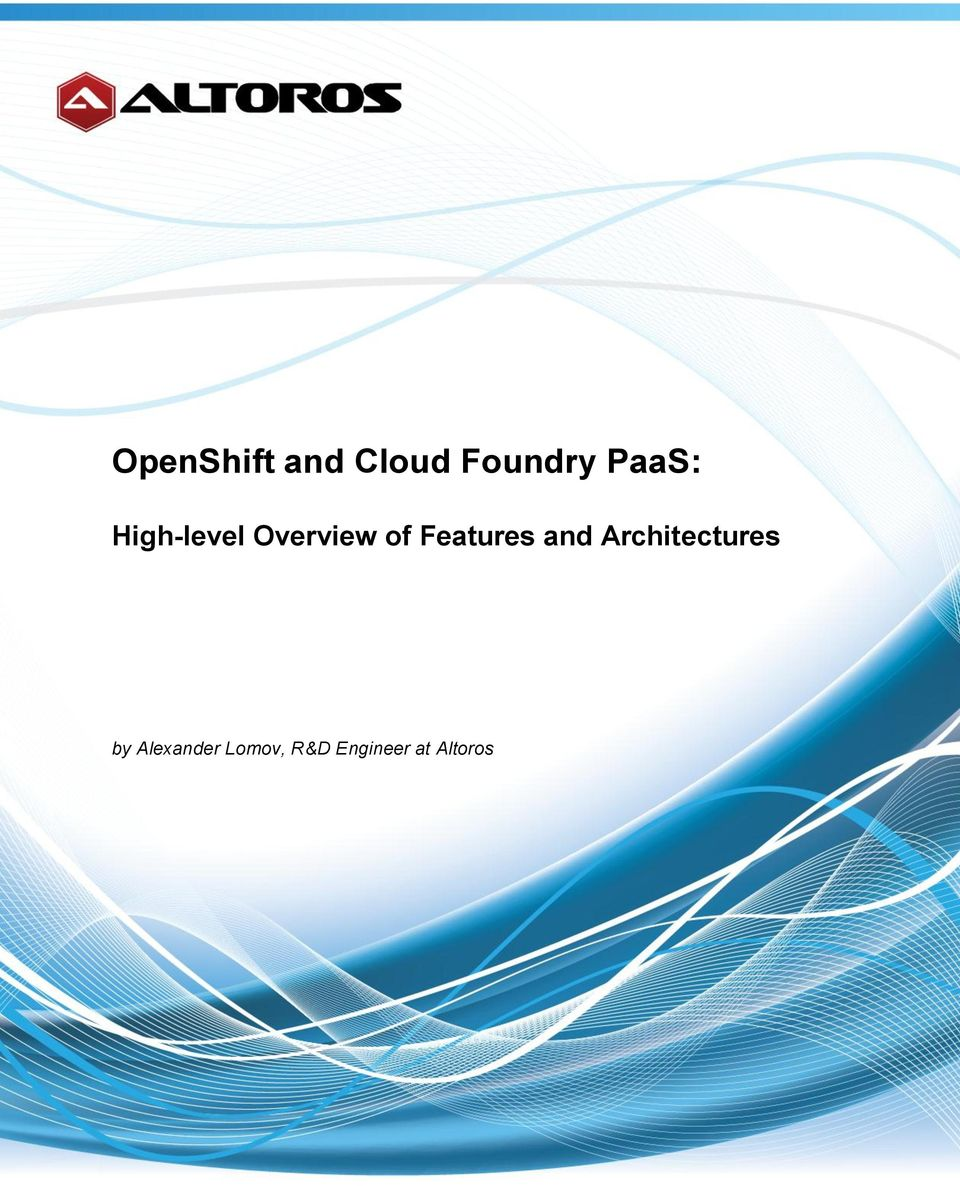 Features and Architectures by