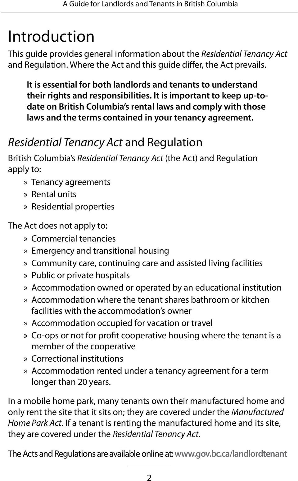 A Guide For Landlords Tenants In British Columbia Residential