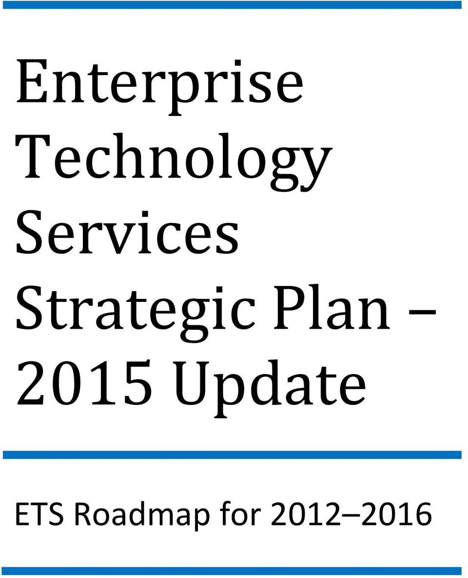 Strategic Plan 2015