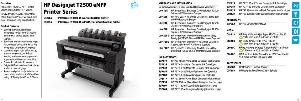 Eliminate any output clutter get flat, collated prints thanks to the integrated output stacking tray.