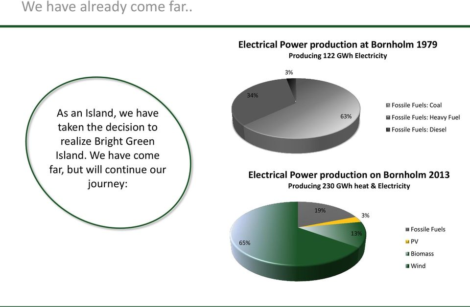 the decision to realize Bright Green Island.