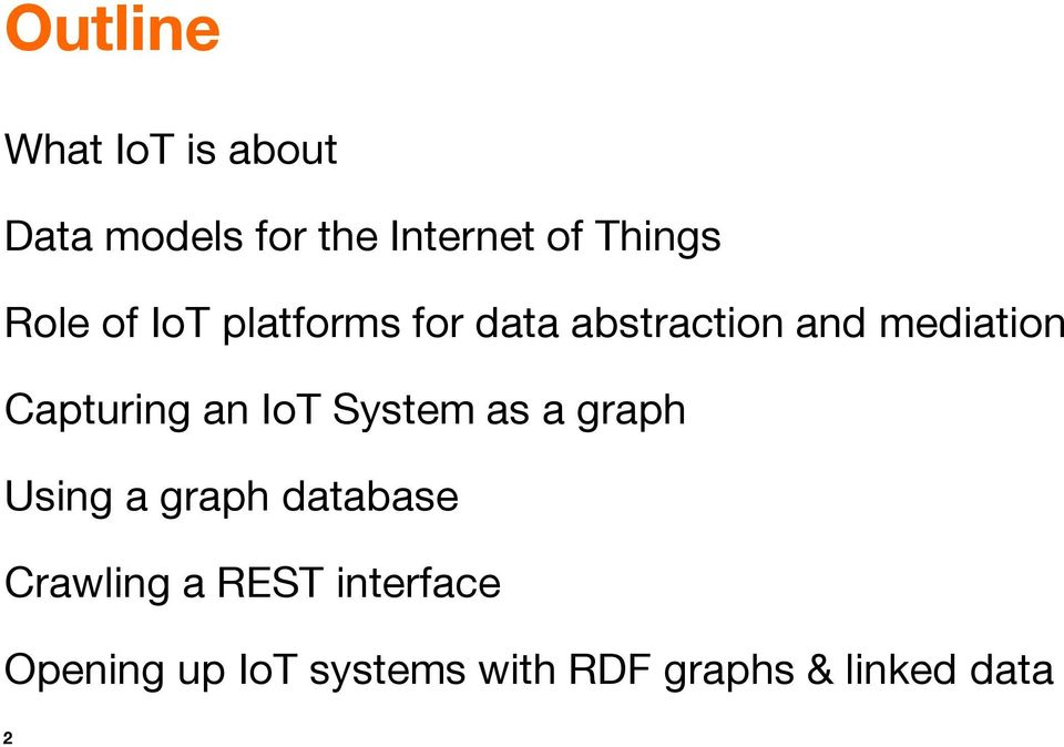 Capturing an IoT System as a graph Using a graph database