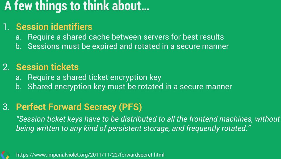 Shared encryption key must be rotated in a secure manner 3.